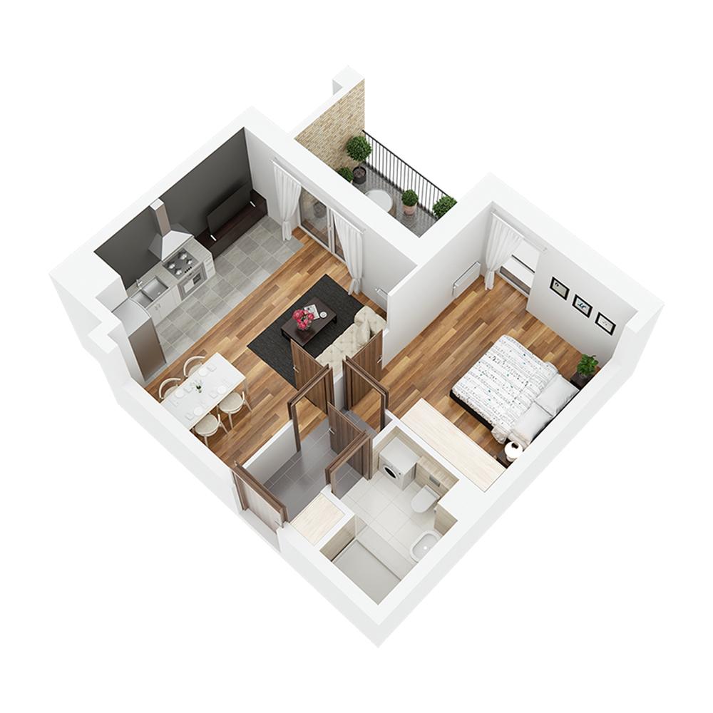 Mieszkanie 2-pokojowe PP-26-70
