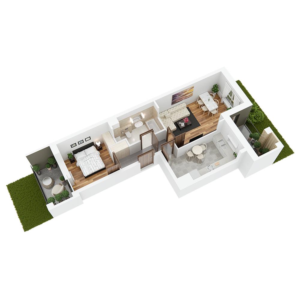 Mieszkanie 2-pokojowe PP-26-49