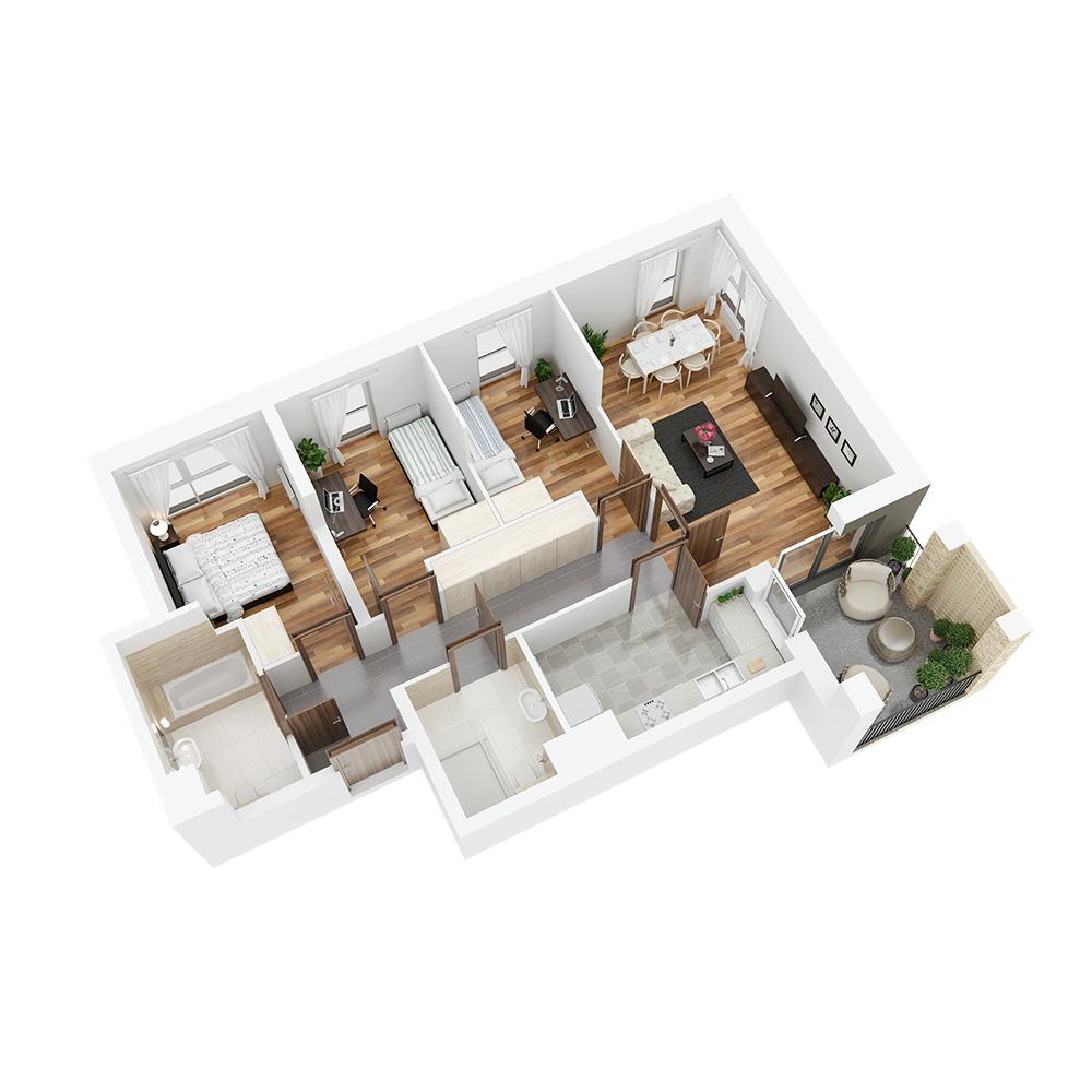 Mieszkanie 4-pokojowe PP-24-77