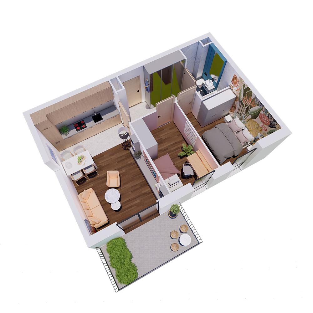 Mieszkanie 3-pokojowe R-A-32