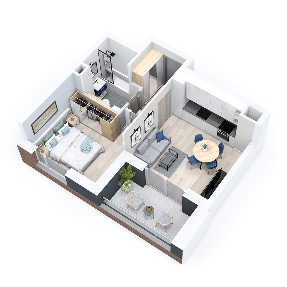Mieszkanie 2-pokojowe PP-8B-21