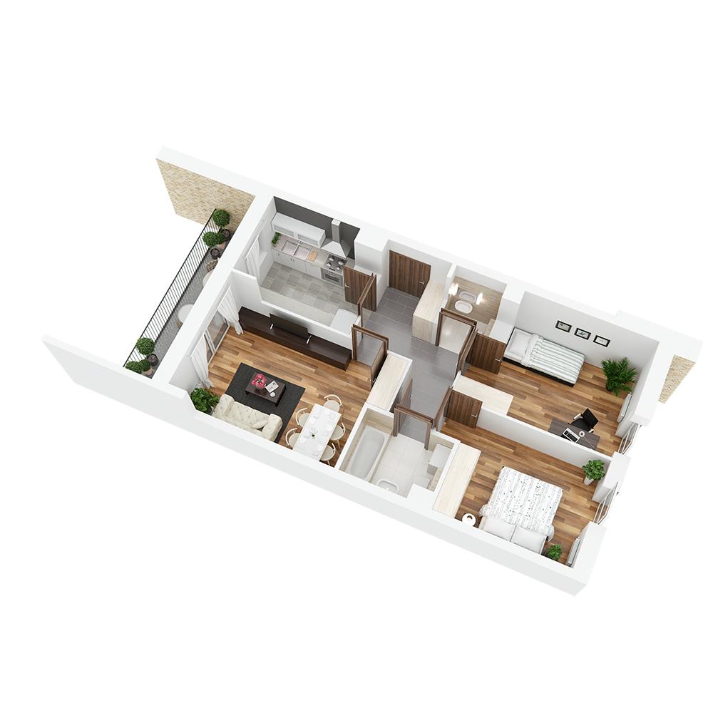 Mieszkanie 3-pokojowe PP-24-48