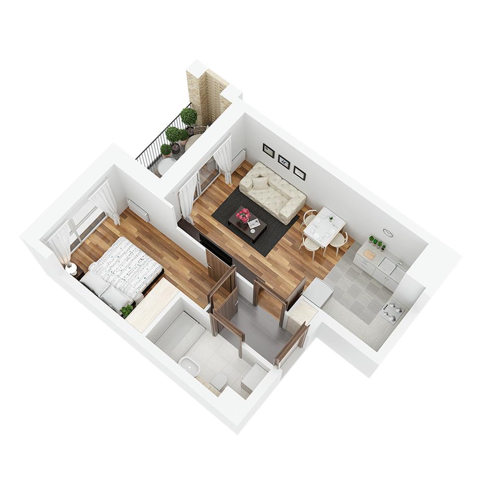 Mieszkanie 2-pokojowe PP-24-24