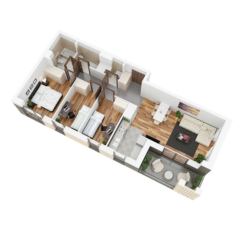 Mieszkanie 4-pokojowe PP-24-9
