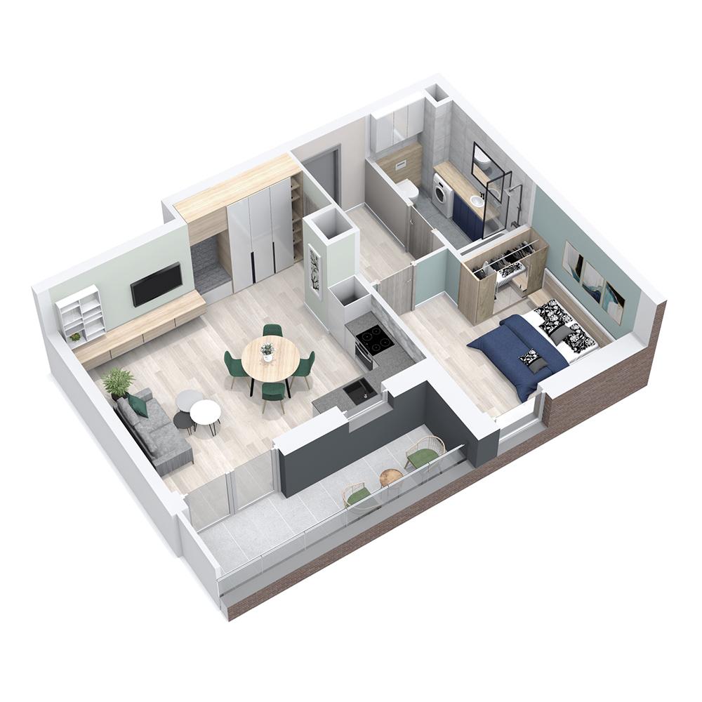 Mieszkanie 3-pokojowe PP-8C-100