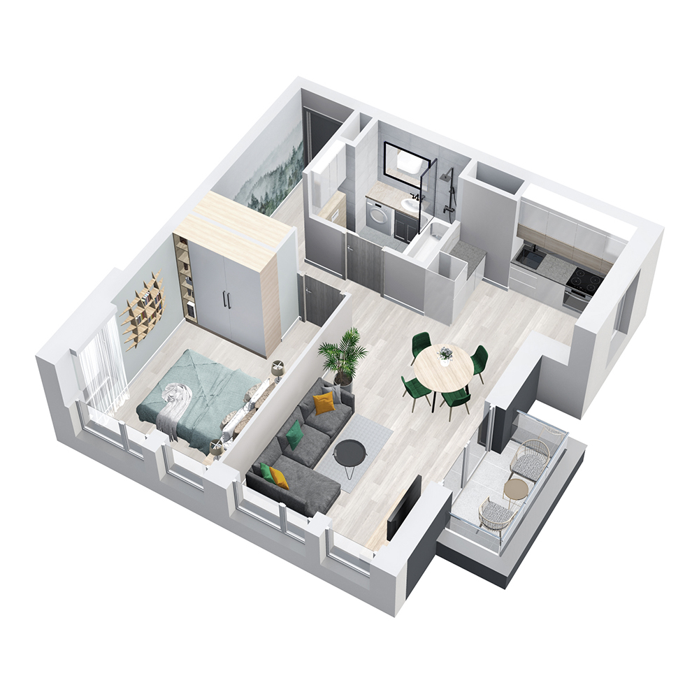 Mieszkanie 2-pokojowe PP-8D-58