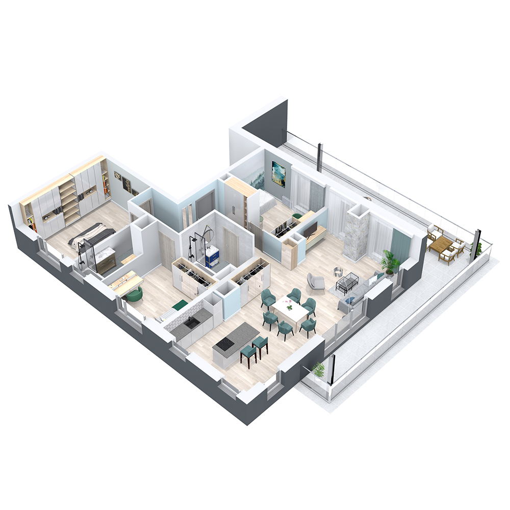 Mieszkanie 4-pokojowe PP-8B-80