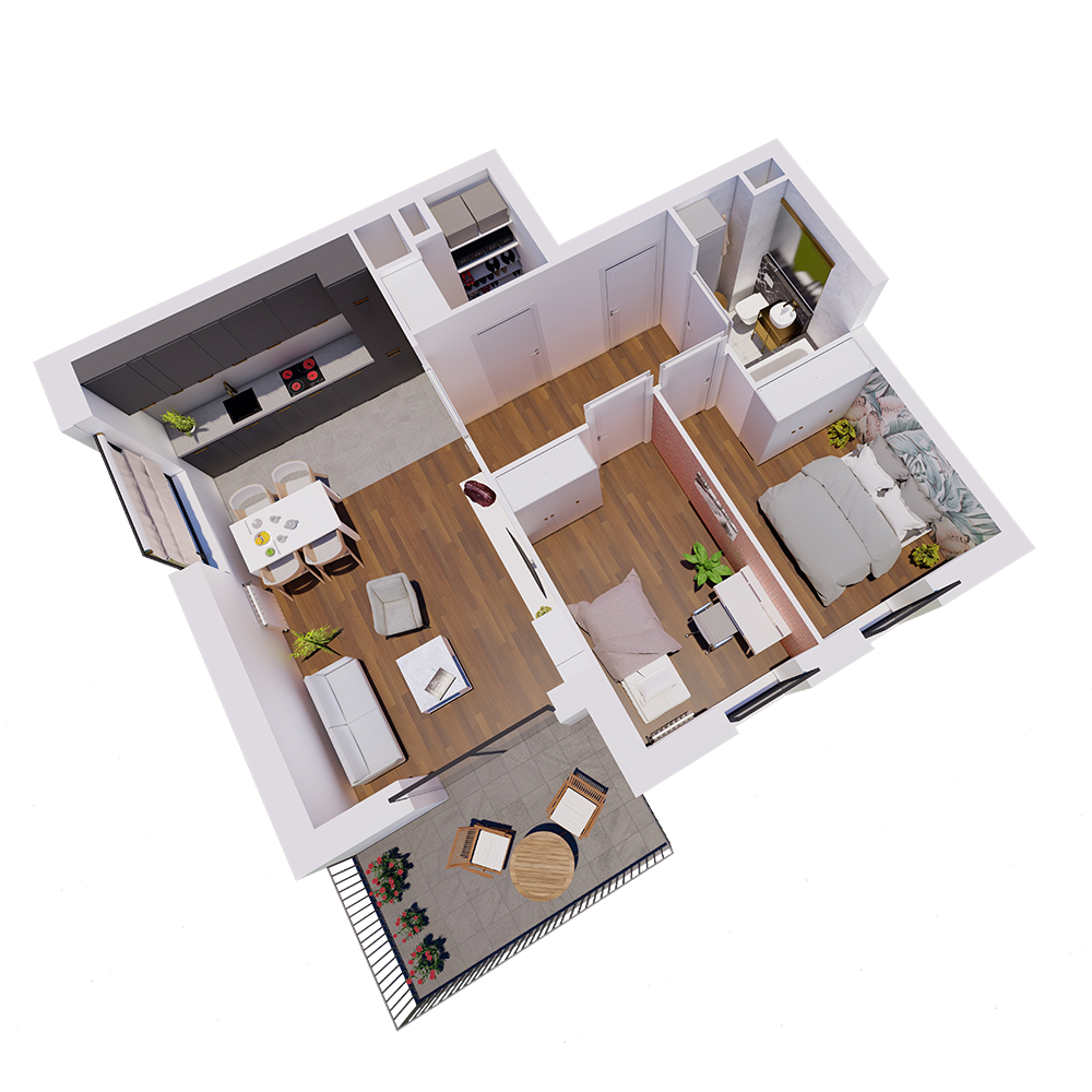 Mieszkanie 3-pokojowe R-A-2