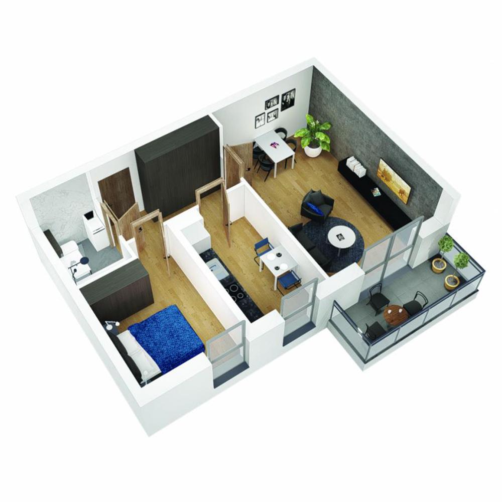 Mieszkanie 2-pokojowe OU-6-26