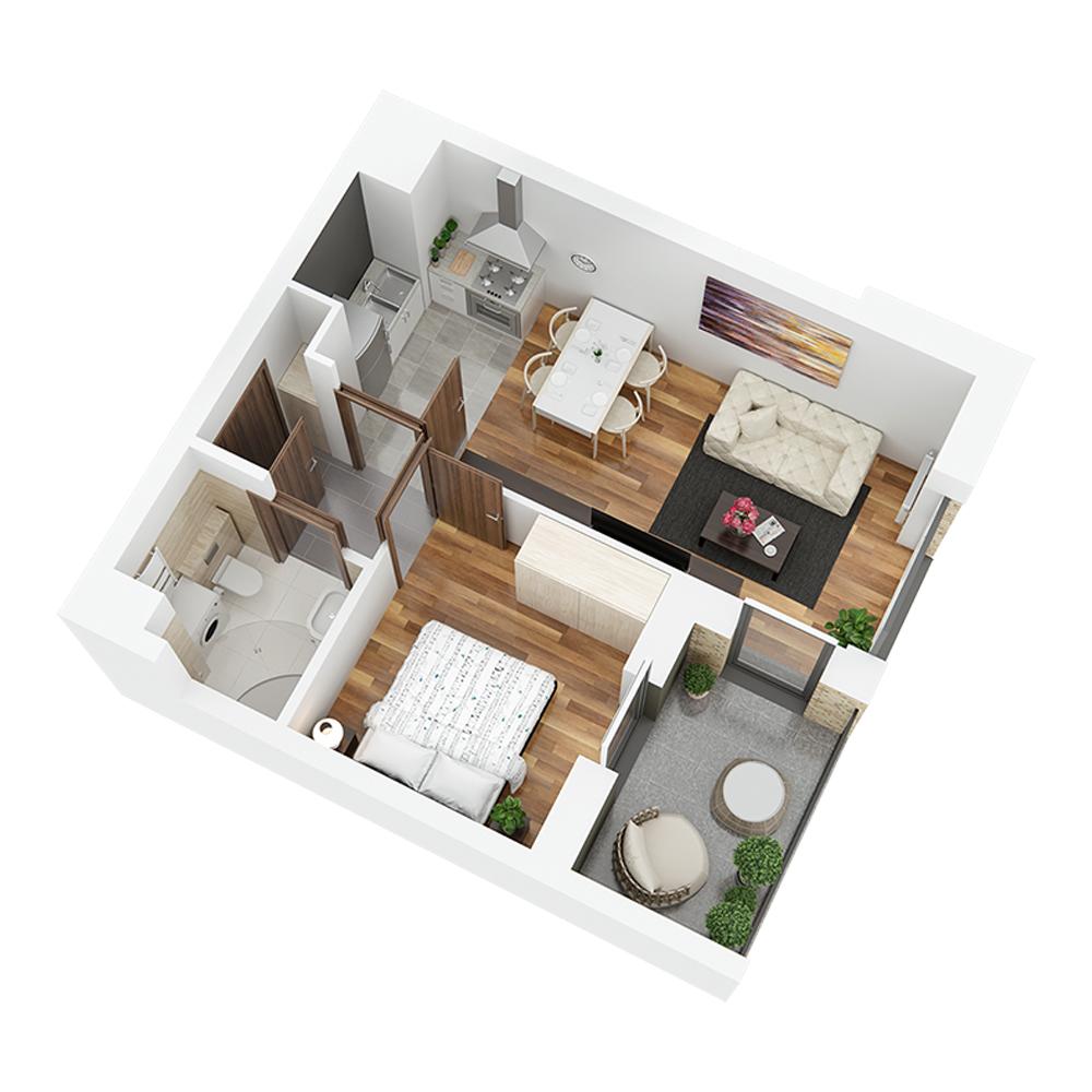 Mieszkanie 2-pokojowe PP-24-6