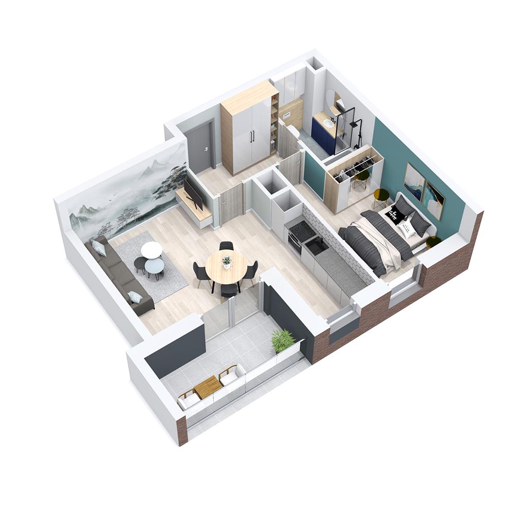 Mieszkanie 2-pokojowe PP-8C-64