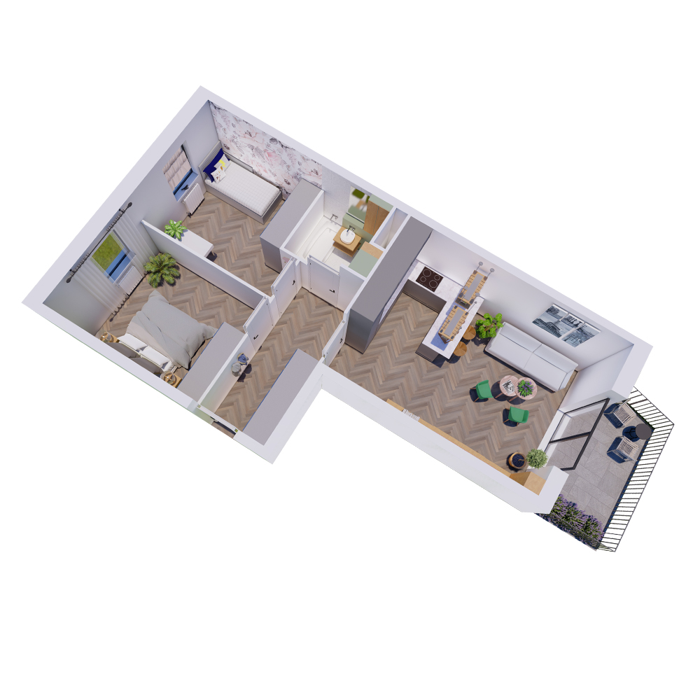 Mieszkanie 3-pokojowe R-A-31