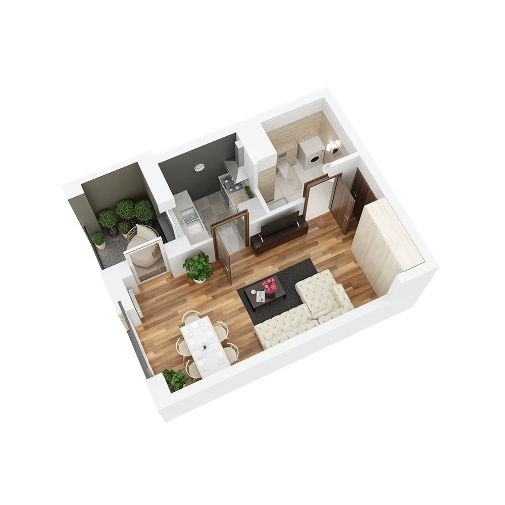Mieszkanie 1-pokojowe PP-24-83