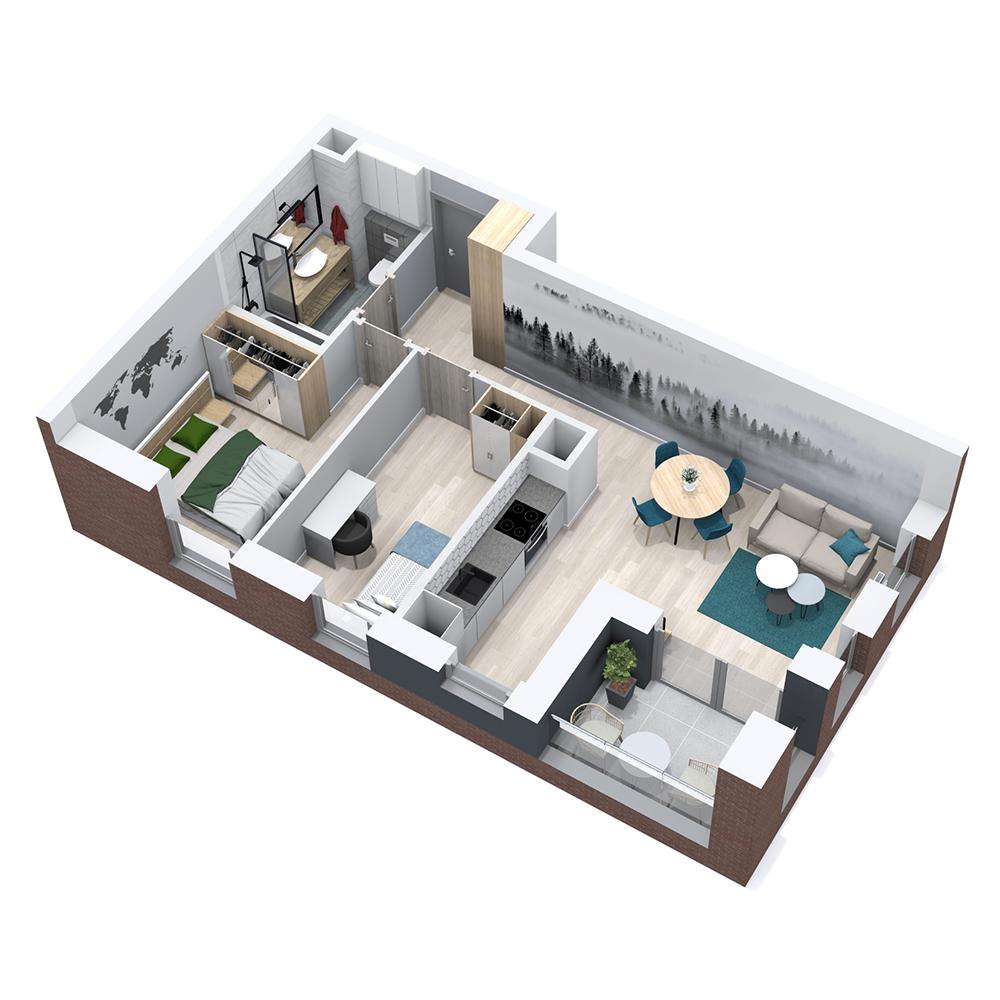 Mieszkanie 3-pokojowe PP-8B-23