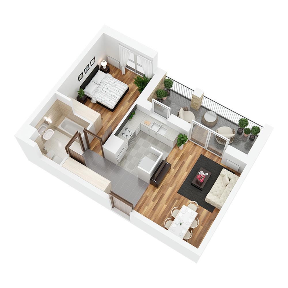 Mieszkanie 2-pokojowe PP-24-44
