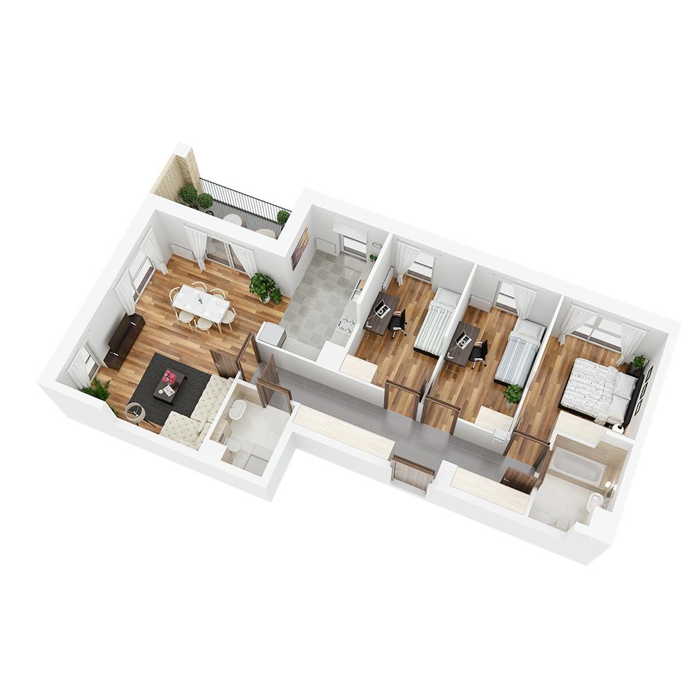 Mieszkanie 4-pokojowe PP-24-56
