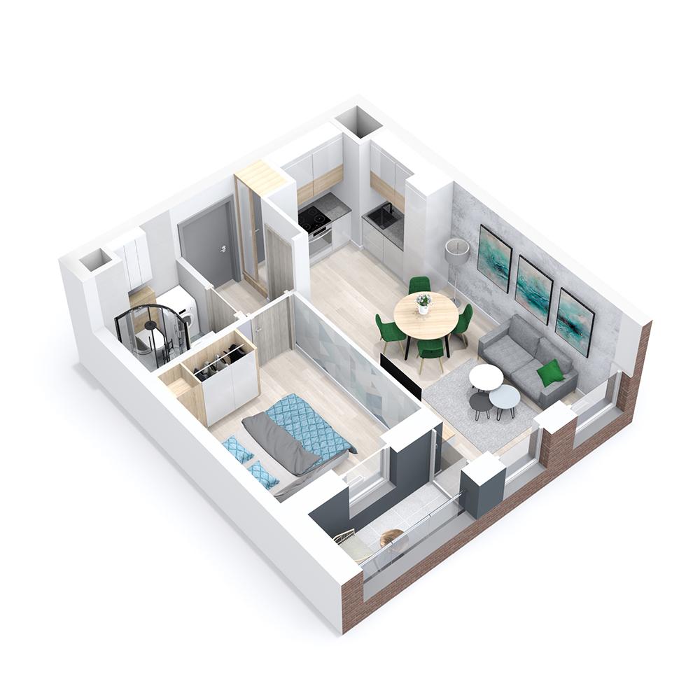 Mieszkanie 2-pokojowe PP-8B-19