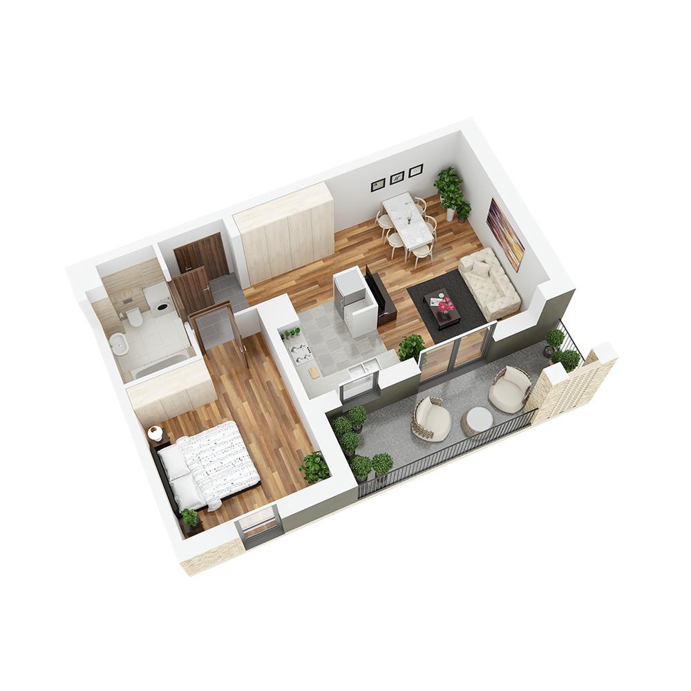 Mieszkanie 2-pokojowe PP-24-98
