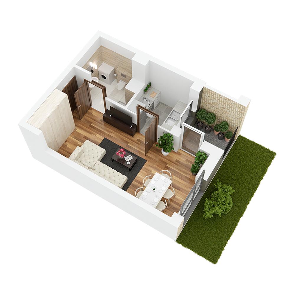 Mieszkanie 1-pokojowe PP-26-77