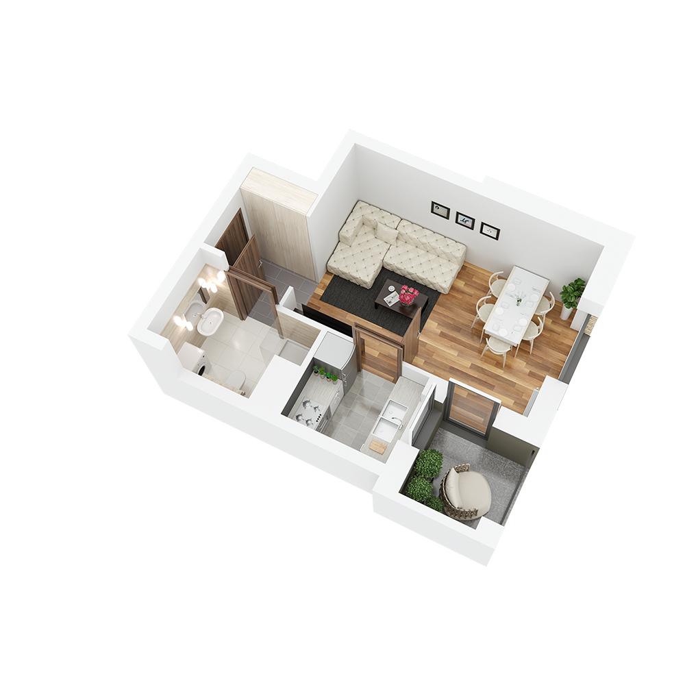 Mieszkanie 1-pokojowe PP-26-30