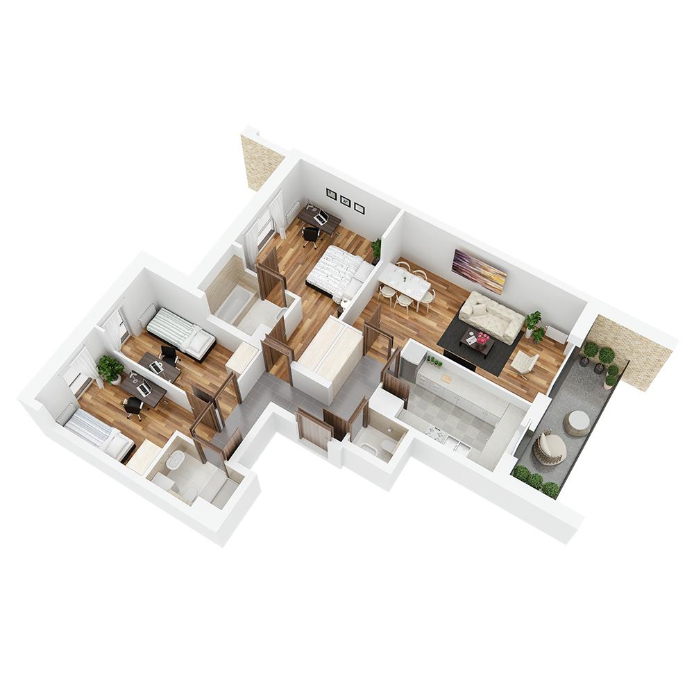 Mieszkanie 4-pokojowe PP-26-29