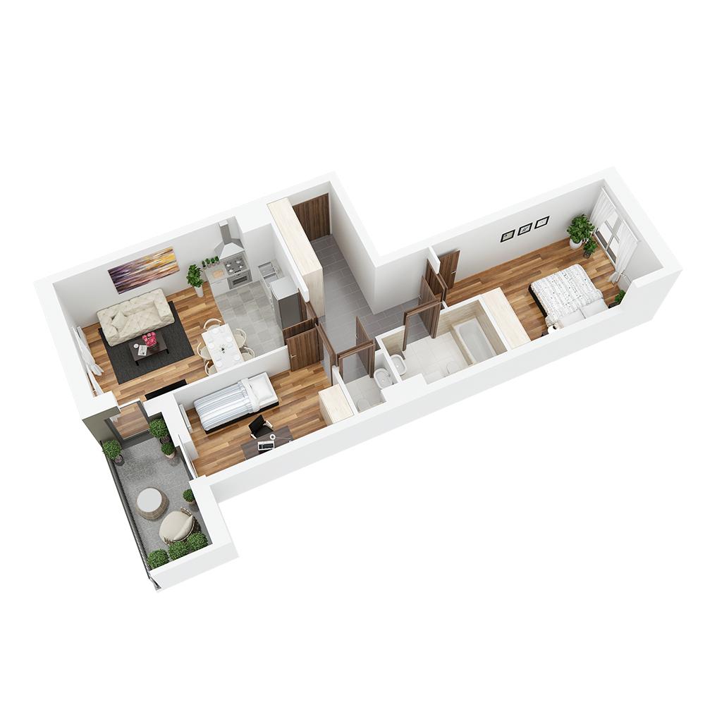 Mieszkanie 3-pokojowe PP-26-40