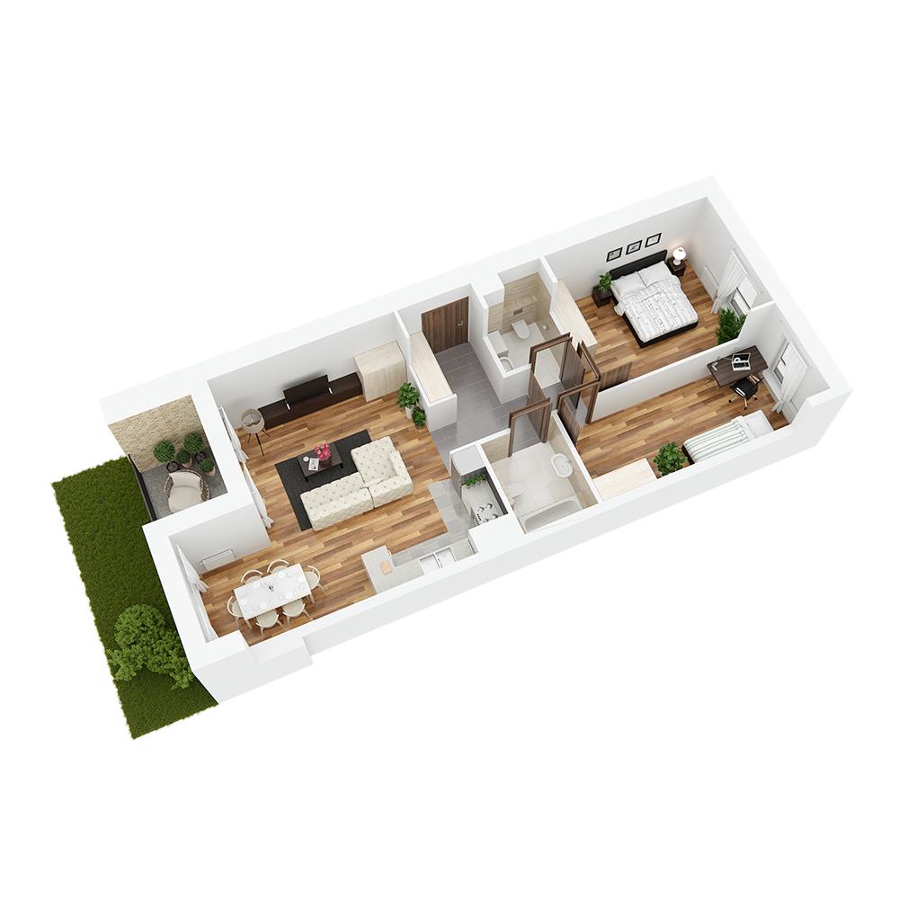 Mieszkanie 3-pokojowe PP-24-54