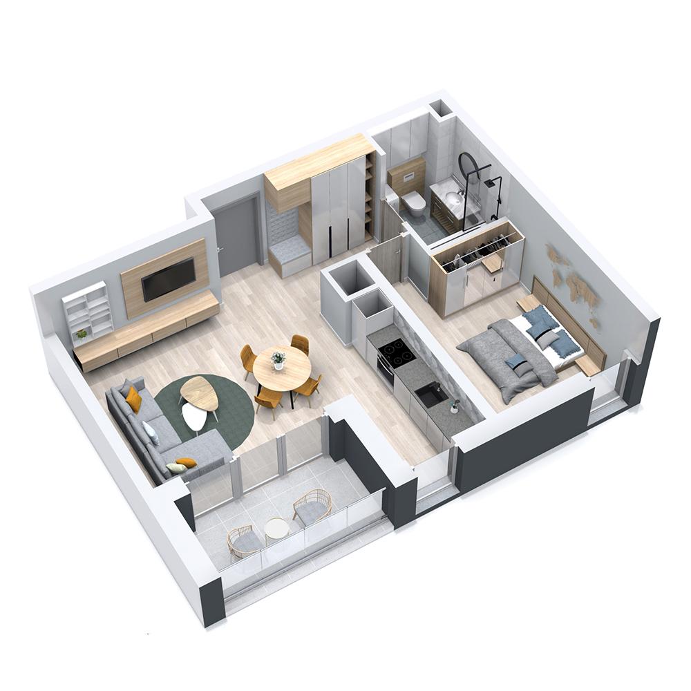 Mieszkanie 2-pokojowe PP-8C-17