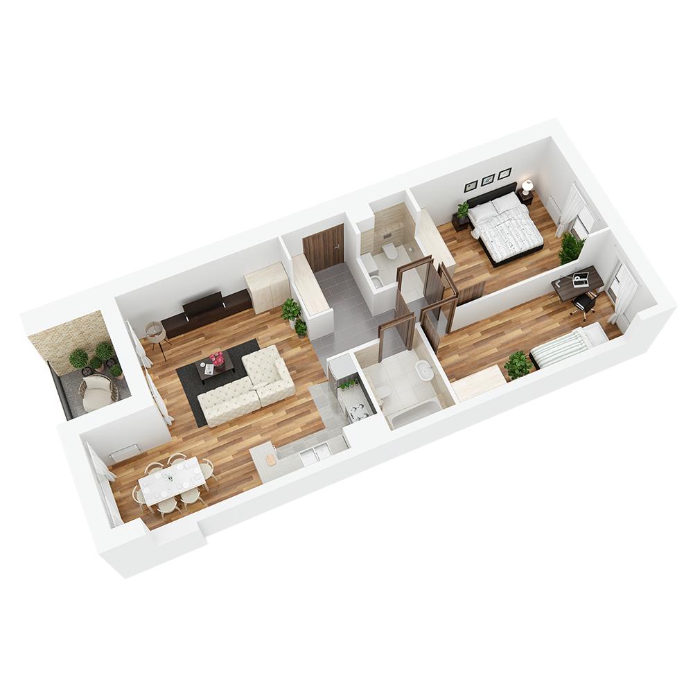 Mieszkanie 3-pokojowe PP-24-66