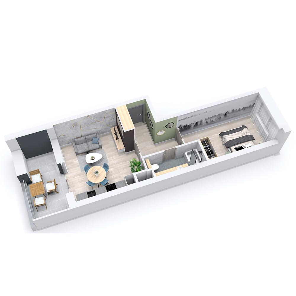 Mieszkanie 2-pokojowe PP-8C-42