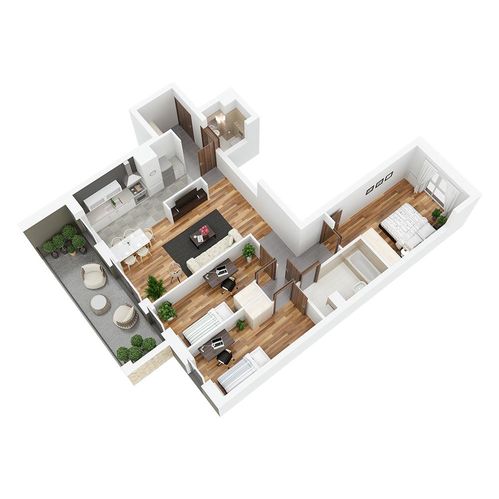 Mieszkanie 4-pokojowe PP-24-58