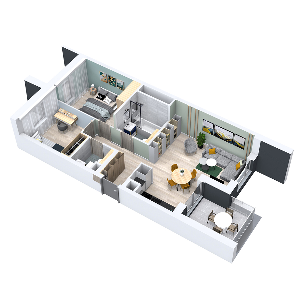 Mieszkanie 3-pokojowe PP-8B-81