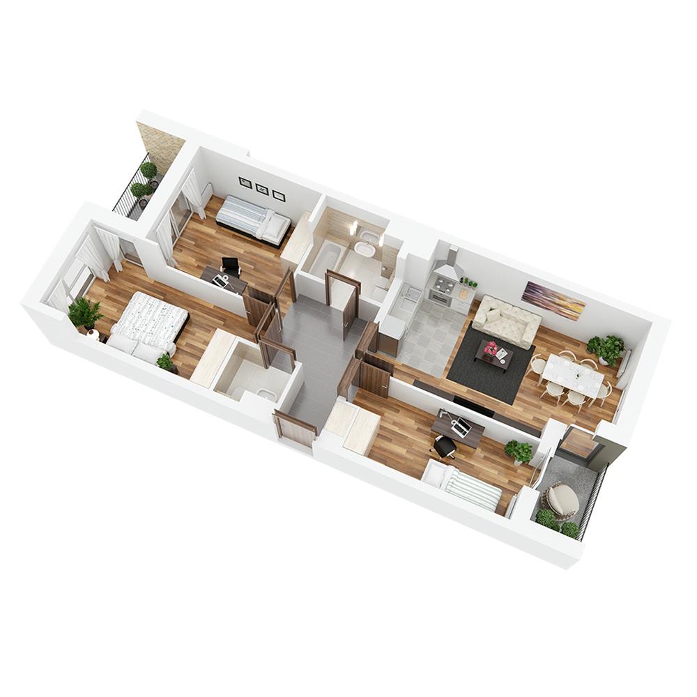 Mieszkanie 4-pokojowe PP-24-5