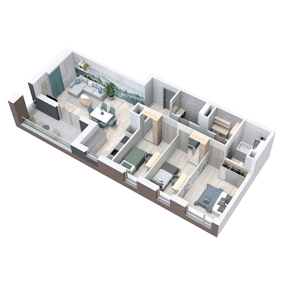 Mieszkanie 4-pokojowe PP-8C-33