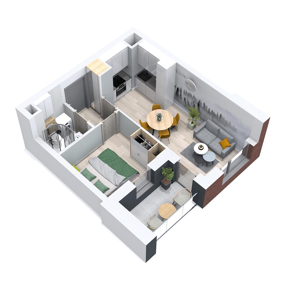 Mieszkanie 2-pokojowe PP-8B-20