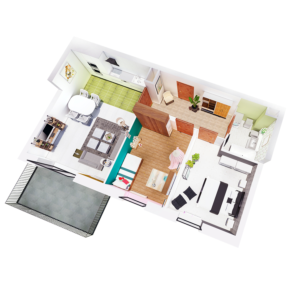 Mieszkanie 3-pokojowe R-A-48