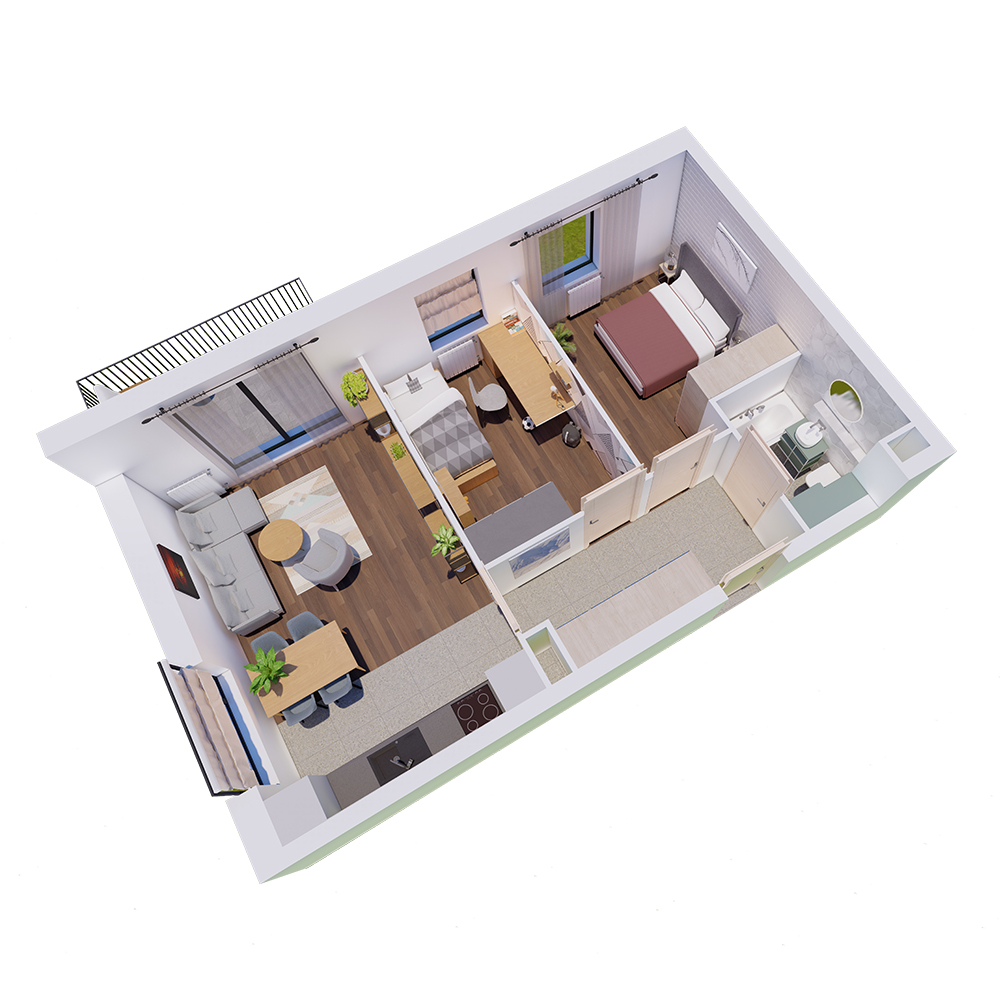 Mieszkanie 3-pokojowe R-A-3